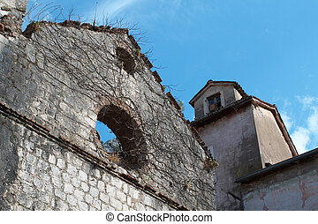 Ruins of the Old town in Kotor, Montenegro