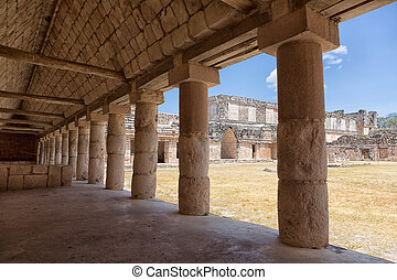 ruins of the prehispanic town of Uxmal, a Unesco World Heritage site