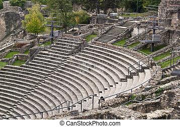 Roman theater in Lyon, France