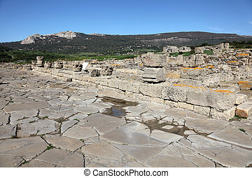 Ruins of the roman town Baleo Claudia in Andalusia, southern Spain