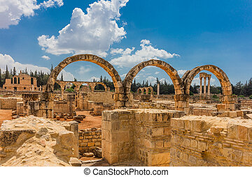 Ruins of the Umayyad Aanjar Anjar Beeka Lebanon - Ruins of...