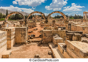 Ruins of the Umayyad Aanjar Beeka Lebanon - Ruins of the...