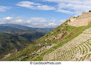 Ruins of Theater of Pergamon in Turkey
