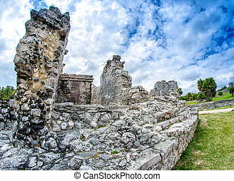 Ruins of Tulum. Mayan site in Mexico