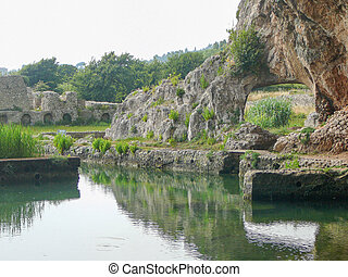 Ruins of Villa Tiberio in Sperlonga