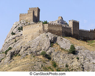 Genoa fortress is in the Sudakskaya fortress on the mountain, which is the historical value of the Ukraine.