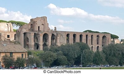 Ruins on the Palatine Hill. Rome, Italy