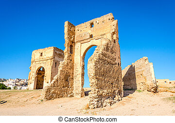 Ruins outside of Fez - Old ruins on the hill outside of Fez,...