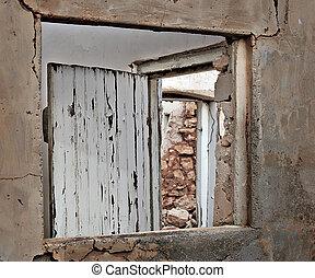 ruins window