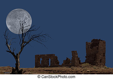 Ruins with Tree