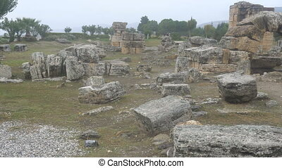 ruins,a ruined city in Pamukkale,Turkey - ruins,a ruined...
