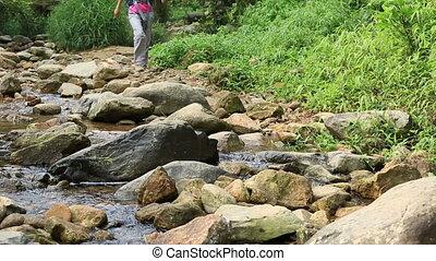 ruisseau, trekking