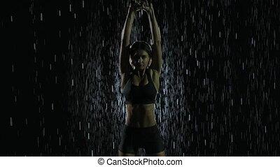 ruisseaux, motion., puissance, fin, training., crossfit, ...