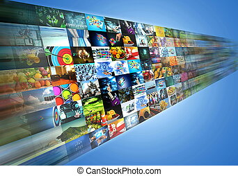 ruisseler, partage, internet, multimédia, divertissement