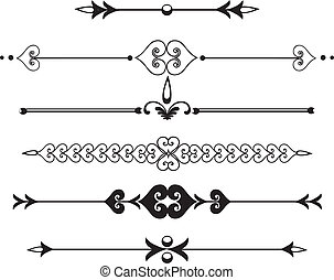 Rule line or border with scrolls