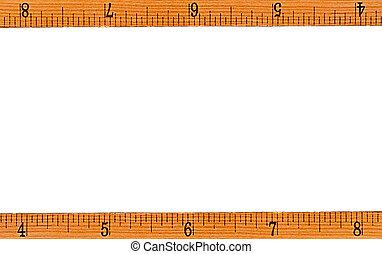 ruler as a frame