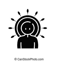 Ruler black icon, concept illustration, vector flat symbol, glyph sign.