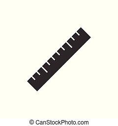 Ruler black icon
