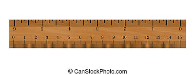 Ruler - Realistic illustration of a ruler - Isolated on...