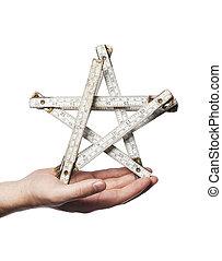 Ruler - Folding carpenter ruler as a star