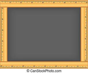 Ruler Frame Chalkboard - Chalkboard with wood ruler frame,...