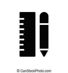 ruler  glyph flat icon
