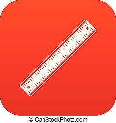 Ruler icon digital red