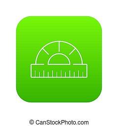 Ruler icon green