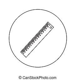 Ruler icon illustration design