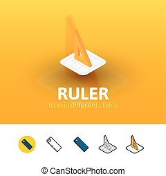 Ruler icon in different style