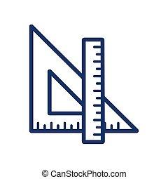 Ruler icon on white background, vector illustration