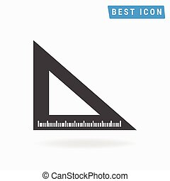 Ruler Icon, Vector Ruler Icon Eps10.