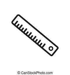 Ruler icon vector. Simple ruler sign in modern design style for web site and mobile app. EPS10
