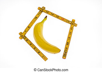 Ruler Measuing a bannana - This bannana is getting measured...