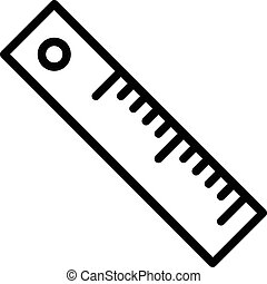 Ruler Outline Icon