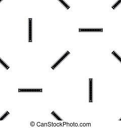 Ruler pattern seamless black