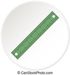 Ruler, rectangular shape icon circle