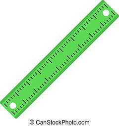 Ruler, rectangular shape icon isolated