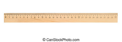 Ruler - Single ruler isolated with clipping path over white