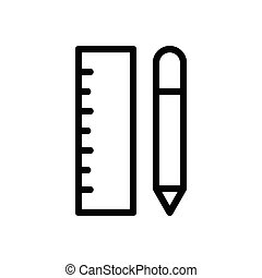 ruler  thin line icon