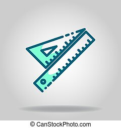 rulers icon or logo in  twotone - Logo or symbol of rulers ...