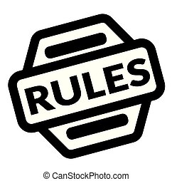 rules black stamp