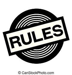 rules black stamp