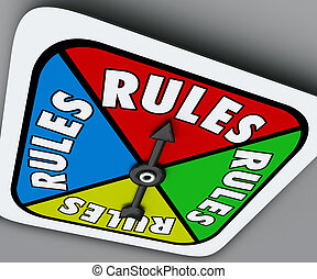 Rules Board Game Spinner Regulation Compliance Play Compete...