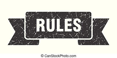 rules grunge ribbon. rules sign. rules banner
