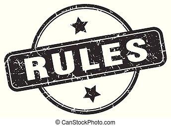 rules grunge stamp
