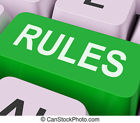 Rules Keys Shows Guidance Policy Or Regulations