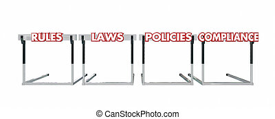 Rules Laws Policies Compliance Jumping Hurdles Legal ...