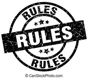rules round grunge black stamp