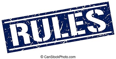 rules square grunge stamp